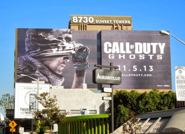 Giant Call of Duty Ghosts video game billboard