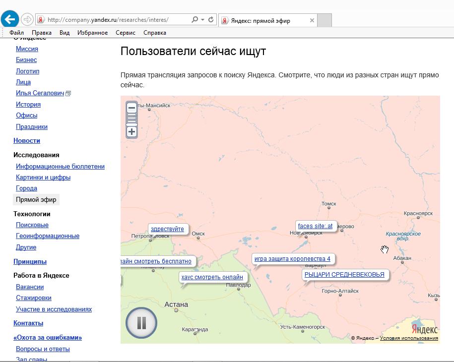 Яндекс прямой эфир