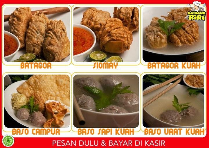 Menu makanan Batagor Riri