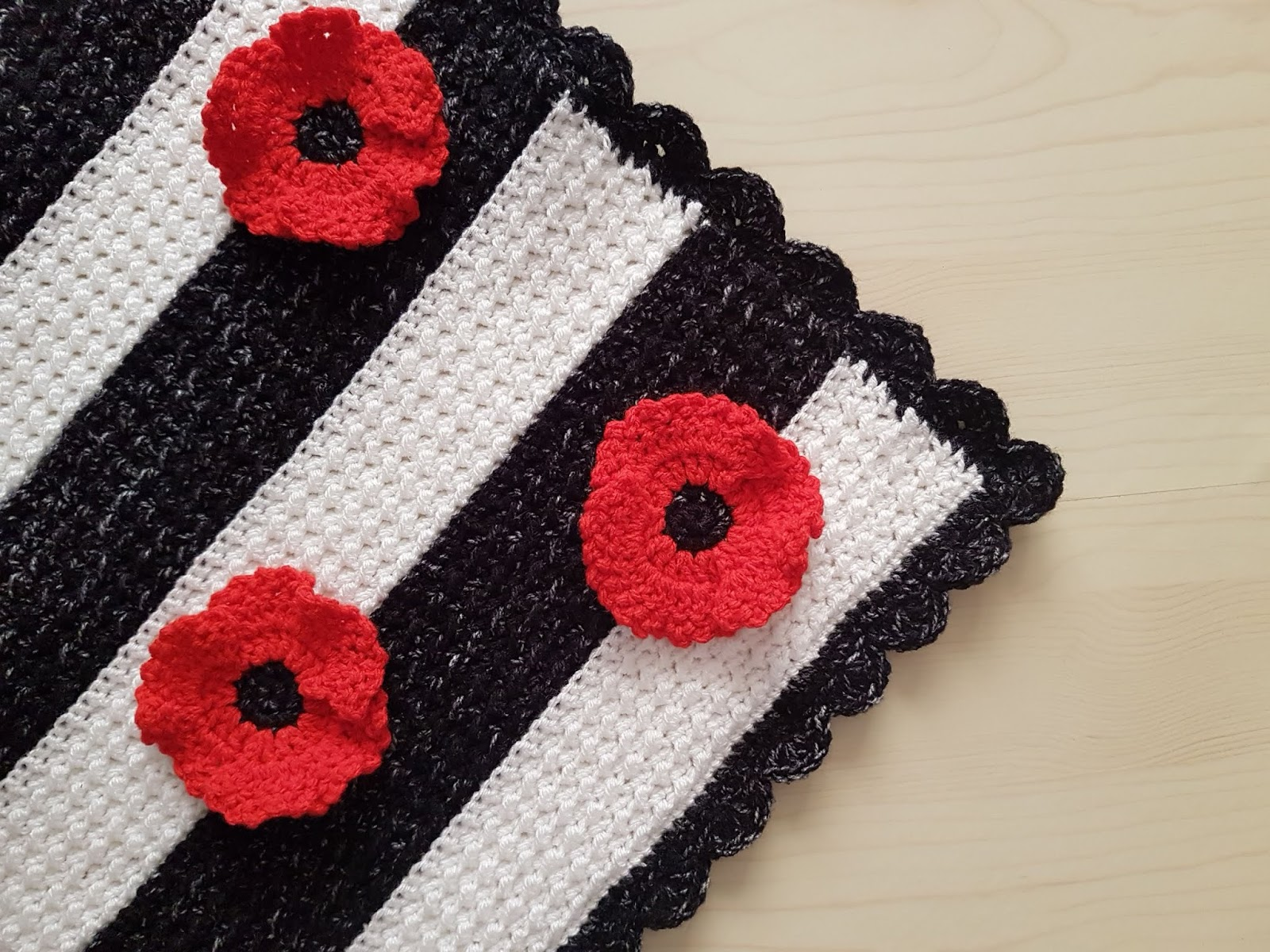 Crochet Pattern: Remember Me Poppy Baby Blanket Afghan