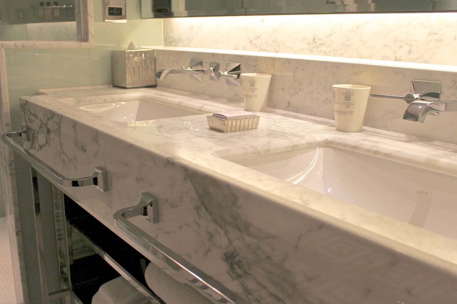 Marble bathroom The Beaumont London