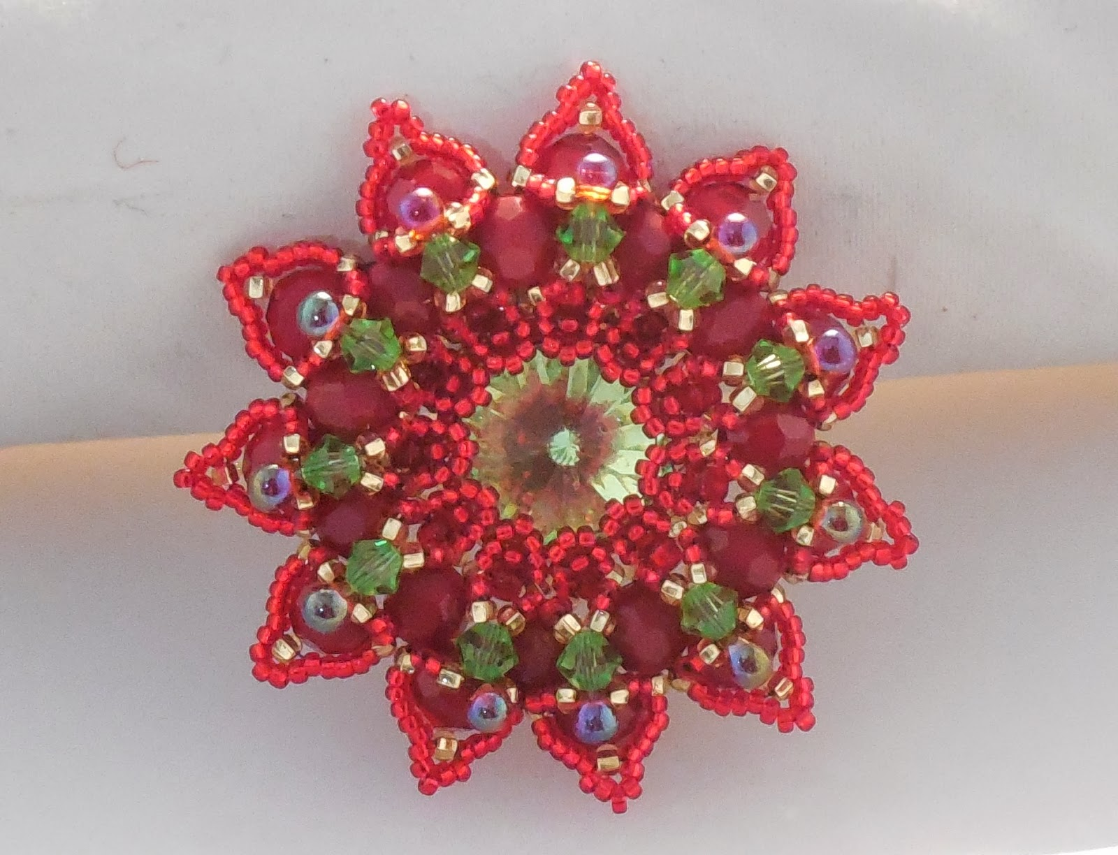 Been busy beading this brooch.