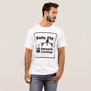 Drone Safe Fly DJI Inspire T-Shirt Design - MzGunDesign