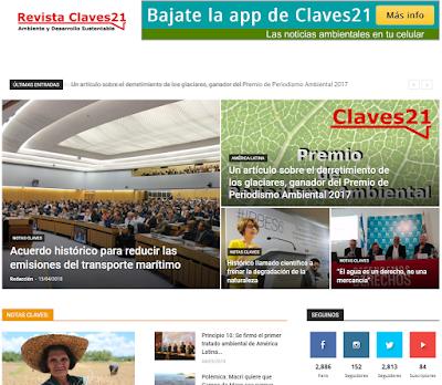 Claves21 es una iniciativa de periodismo ambiental que publica noticias ambientales y oportunidades para periodistas de América Latina.