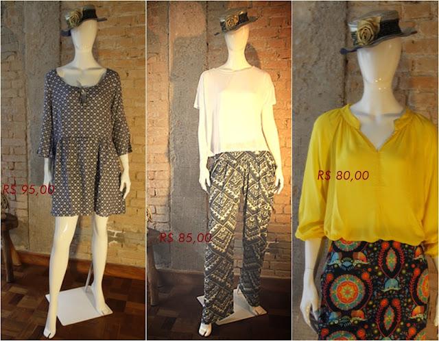 Loja que vende vestido, blusas e calças atemporais