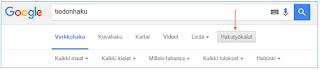 Googlen hakutyökalut