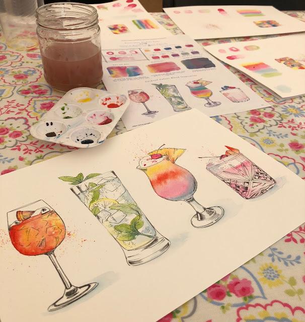 Watercolour Cocktail Hour with Harriet de Winton of de Winton Paper co
