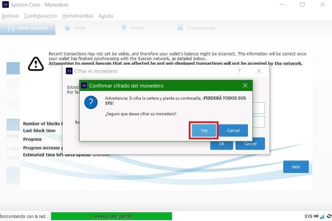 Comprar Criptomoneda Syscoin y enviarla desde Binance a Syscoin (SYS)