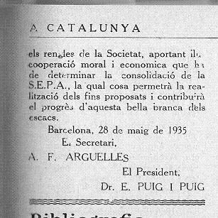 Acta de constitución de la SEPA