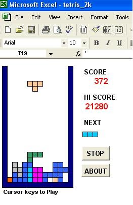 All Free for you Bro: Excel games TETRIS