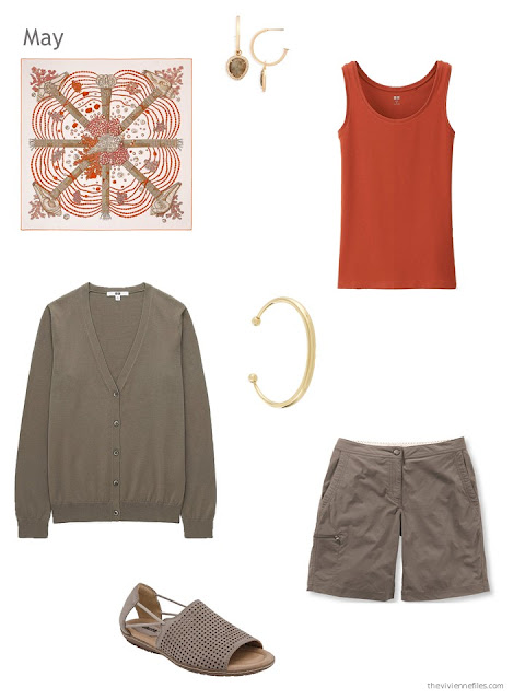 how to wear orange and brown in the summer
