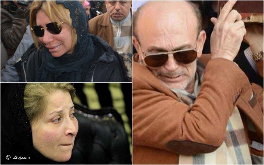 صور تفطر القلوب لانهيار المشاهير في جنازات شركاء حياتهم