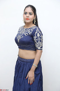 Ruchi Pandey in Blue Embrodiery Choli ghagra at Idem Deyyam music launch ~ Celebrities Exclusive Galleries
