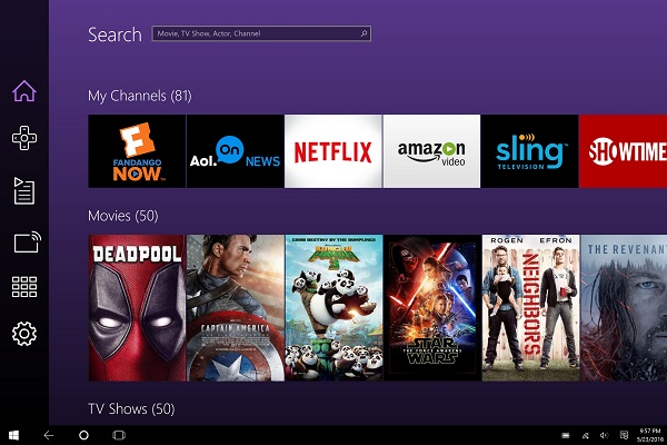 Roku app now available for Windows 10 PCs and tablets
