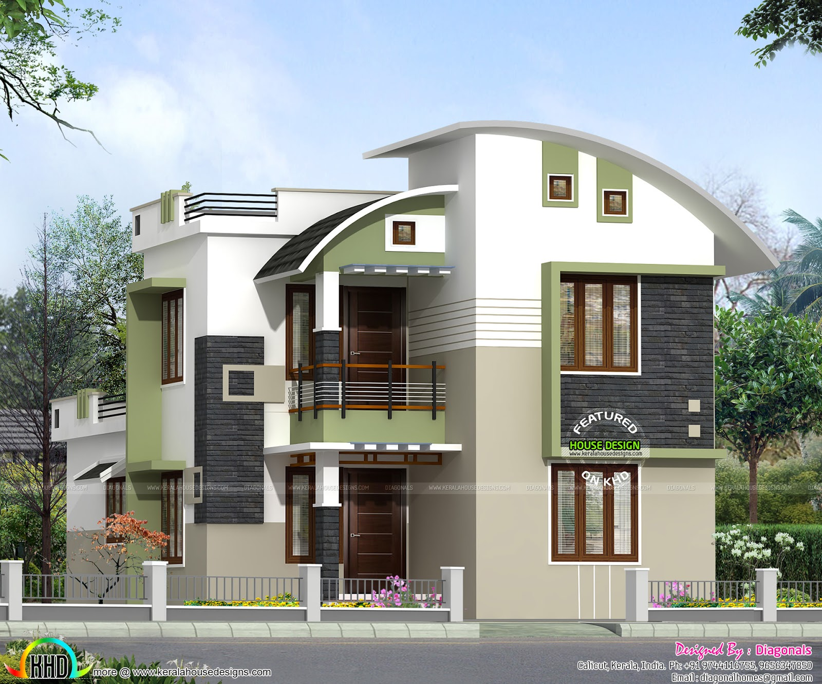 1500 sq ft double storied home kerala home design for 1500 sq ft house plans kerala