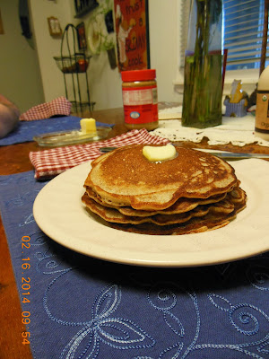 Sourdough pancakes, a good use of excess starter.