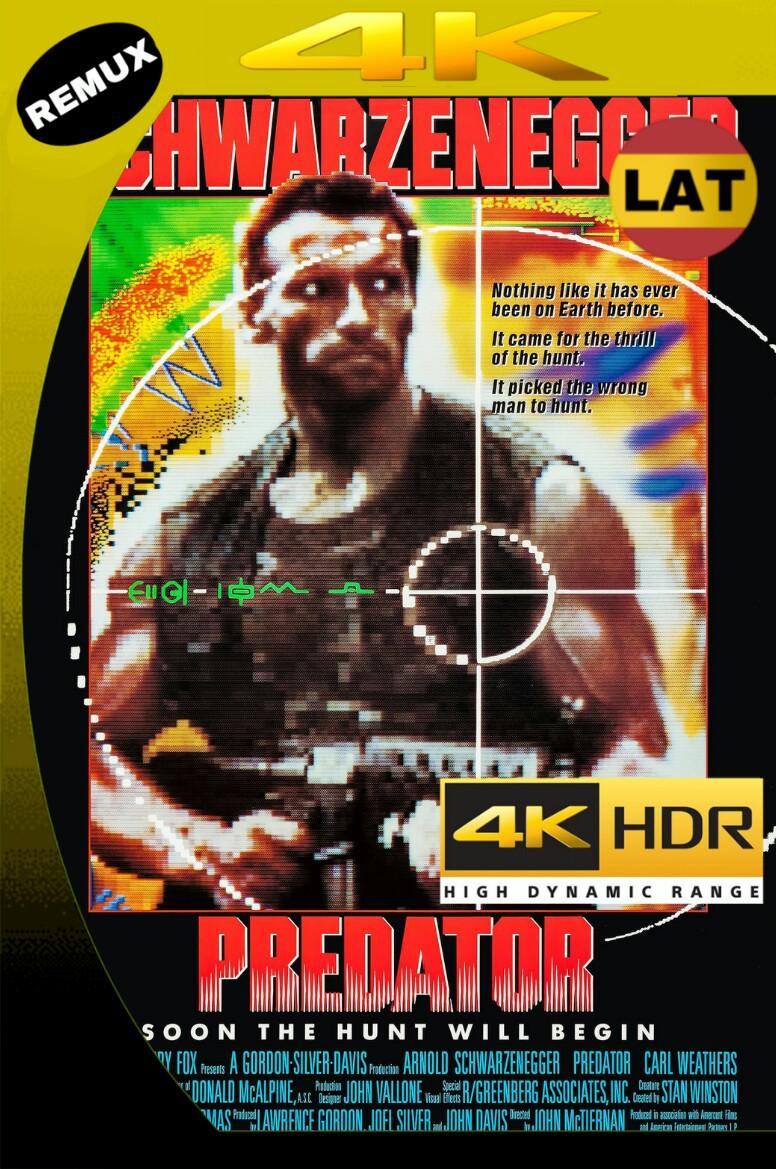 EL DEPREDADOR (1987) BDREMUX 2160P 4K UHD [HDR] LATINO+8 MKV