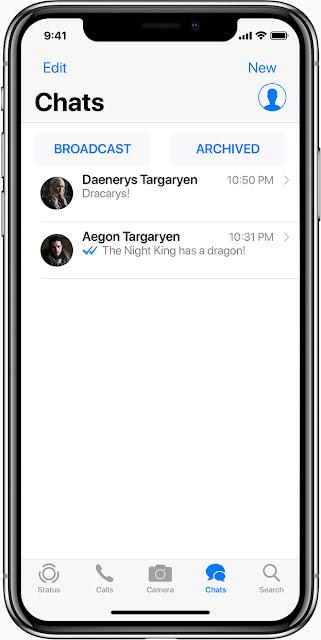 Merubah Tampilan WhatsApp Menjadi Seperti iPhone X iOS di Android Tanpa Root Terbaru