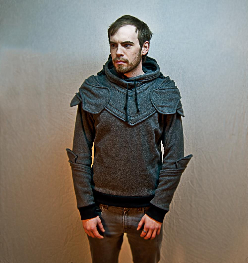 Knight in armor hoodie