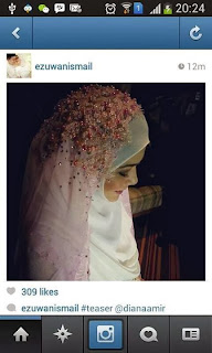 veil nikah diana amir tudung nikah