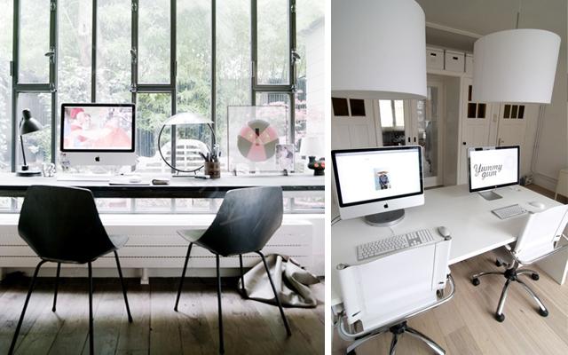Marzua zona de trabajo para dos for Despacho moderno en casa