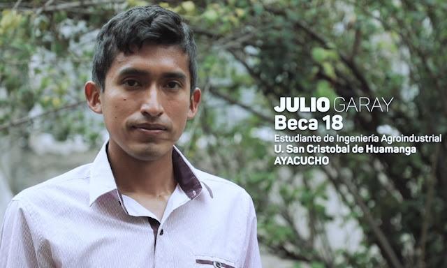 Julio Garay Barrios, ingeniero agroindustrial de la Universidad Nacional San Cristóbal de Huamanga