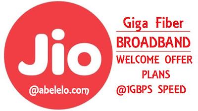 Jio Giga Fiber Broadband Abelelo
