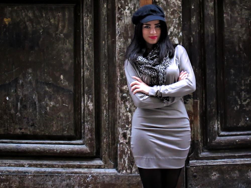 Fashion blogger Emma Louise Layla wearing Diane Von Furstenberg in Paris