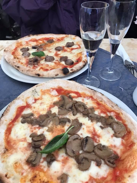 Pizzas in Sorrento Italy