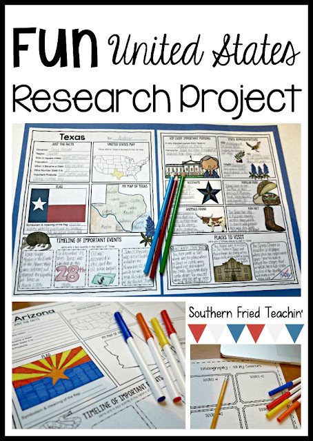 Do you have your students research about different states? Looking for a unique way for students to display their research? These student-friendly posters are perfect for students to display their state research! And they look fabulous on a classroom bulletin board or hallway display!