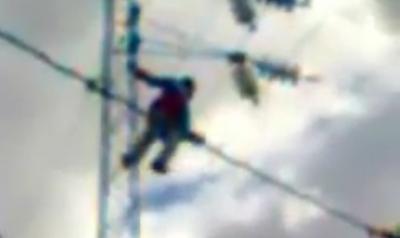 Electrocutado en una Torre de Alta Tension