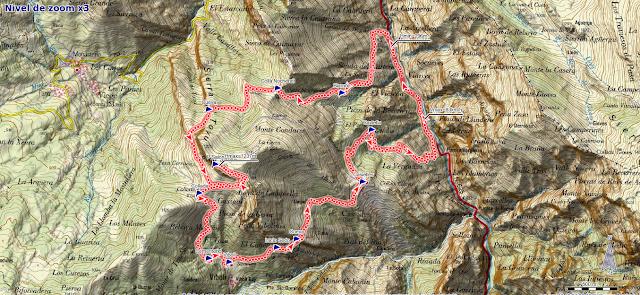 Mapa ruta Peña Salón y Sedo Vibolines
