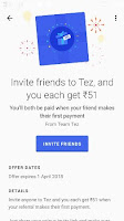 google tez app invite and earn