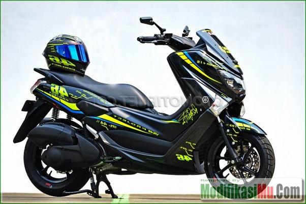 Desain Helm AGV Pista - Modifikasi Yamaha NMax 150 Ala Motor sport MotoGP VR46 Valentino Rossi