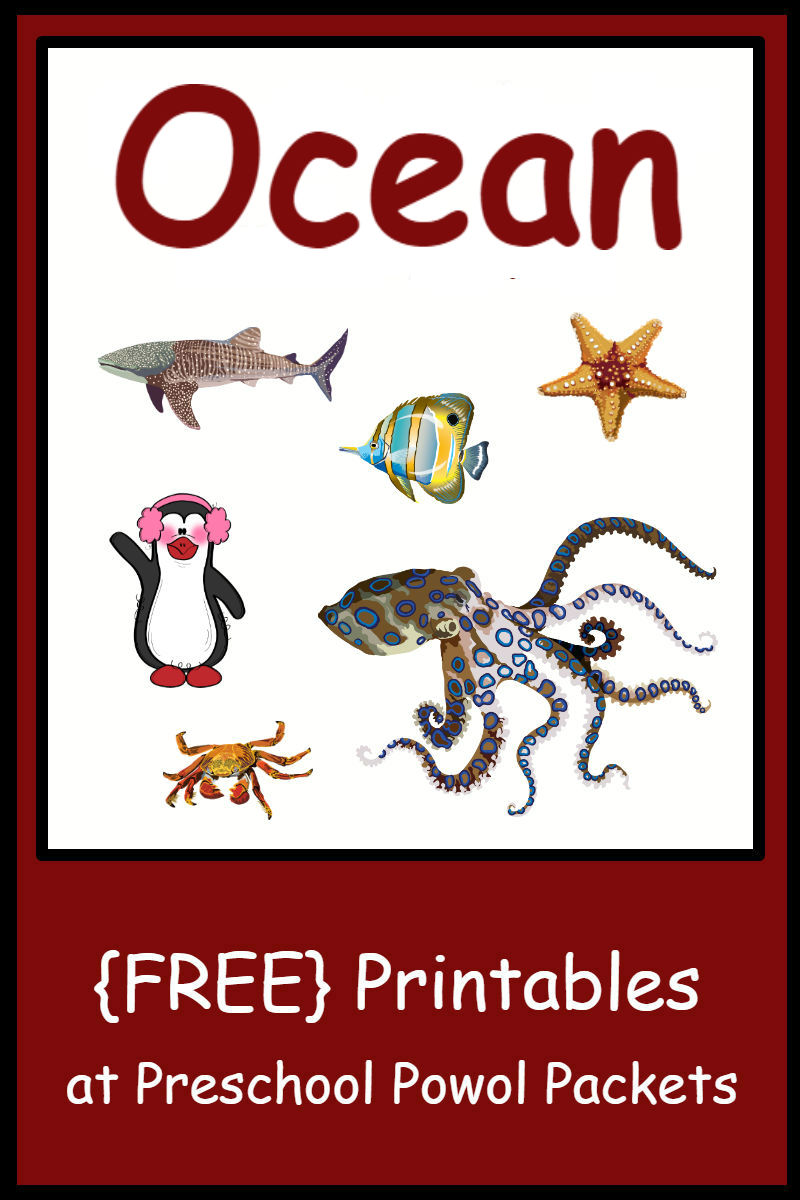 image relating to Free Printable Ocean Pictures referred to as Cost-free Preschool Ocean Themed Printable Actions