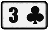 three of clubs playing card