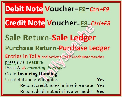 Debit note Credit note Voucher me Entry karna ~ tally seekhe tally - debit note and invoice