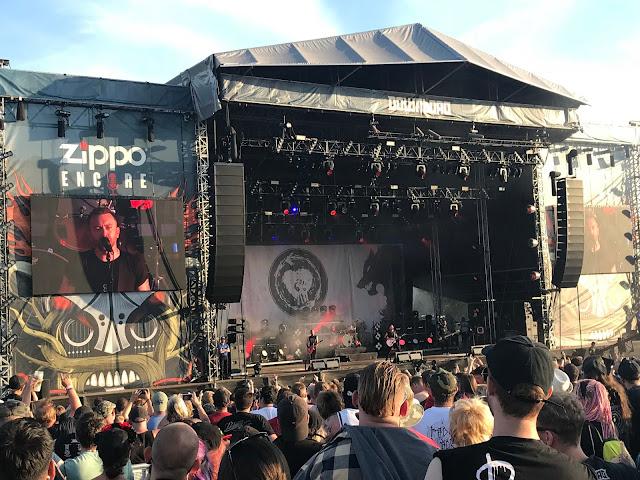 Rise Against at Download UK 2018
