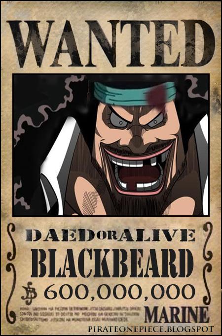 blackbeard one piece bounty - photo #3