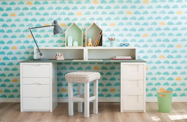 birou alb pentru camera copiilor
