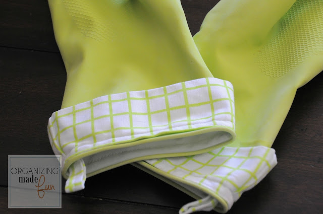 Rubber gloves with cotton cuffs:: OrganizingMadeFun.com