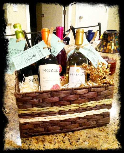 Creative Party Ideas by Cheryl : wine basket wedding gift - medton.org