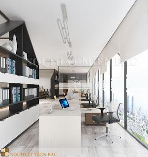 Thiết kế phòng làm việc đẹp với cách phân chia không gian ấn tượng