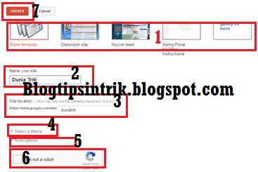 cara membuat dan mendaftar google site terbaru