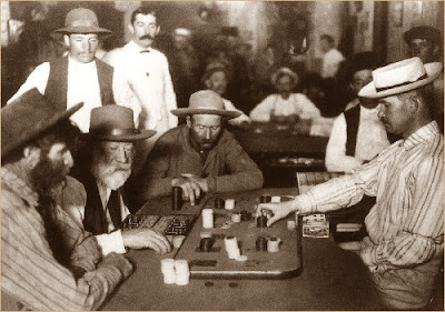 A Poker Game in the 1800s