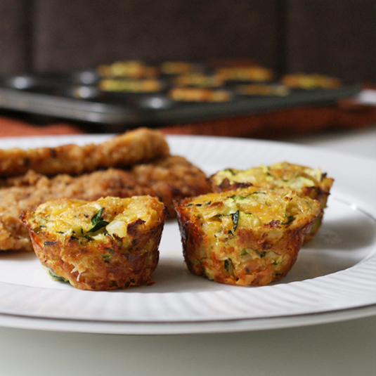 Bake in a mini-muffin tin for crispy edges