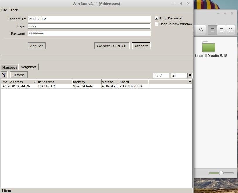 Cara Remote Mikrotik di Linux Menggunakan Winbox
