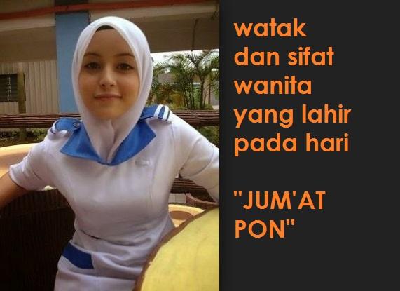 watak wanita atau gadis yang lahir pada hari jum'at pon