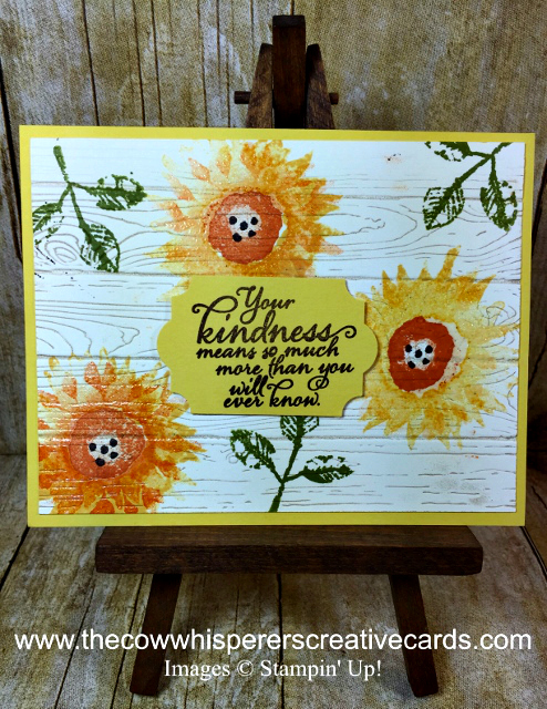 Card, Painted Harvest, Pinewood Planks, Embossing