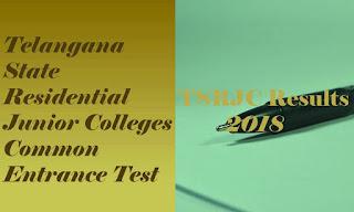 TSRJC CET Results 2018 | TSRJC CET 2018 Results | TSRJC CET Result 2018 | TSRJC Selection list 2018